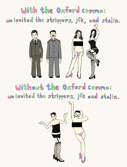 A light-hearted lesson on the Oxford comma (1/2)