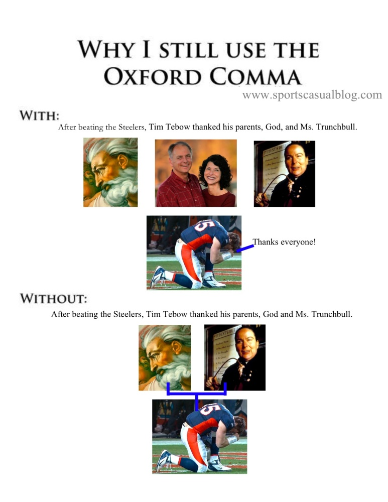 A light-hearted lesson on the Oxford comma (2/2)