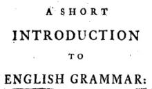 Lowth's Grammar